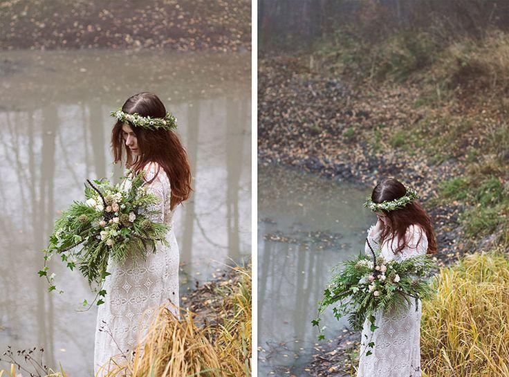 wreath on her head : LISTOPAD W OGNIU