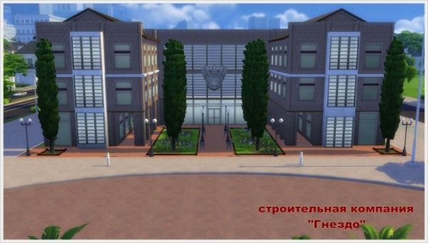 Sims 3 by Mulena: Police station number 2 • Sims 4 Downloads