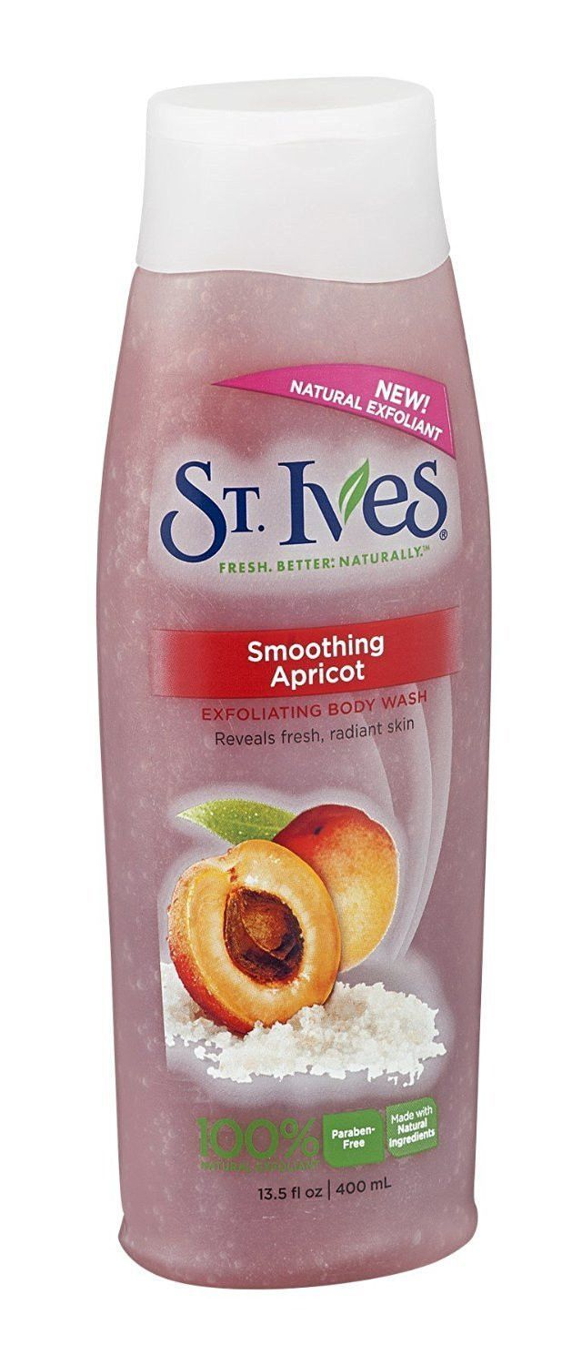 St. Ives Exfoliating Body Wash, Apricot, 13.5 Ounces