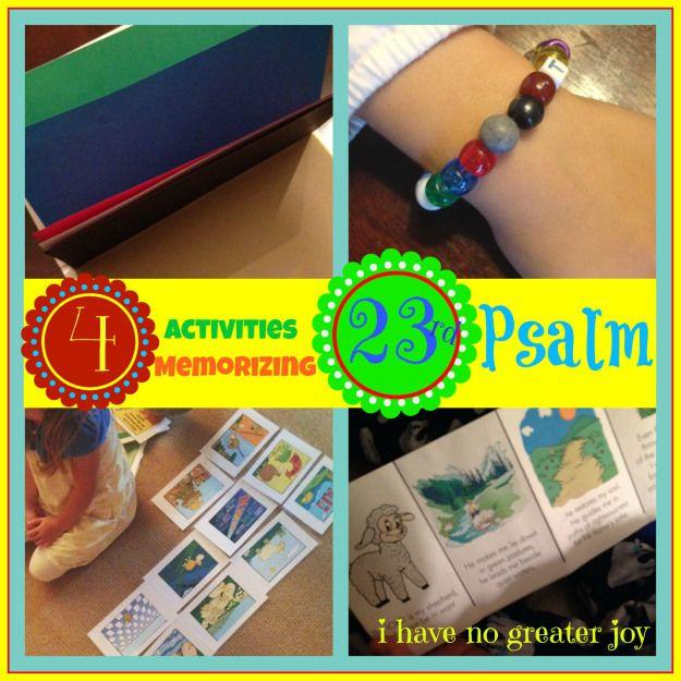 4 Activities for Memorizing Psalm 23 | Psalm 23 ...