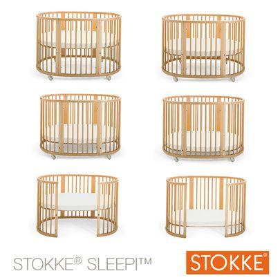 Lit Sleepi™ 120 cm Blanc 60x120 de Stokke®, Lits 60x120 évolutifs : Aubert