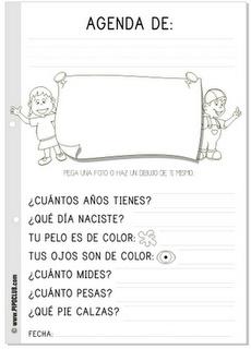 Agenda #infantil #preescolar #educacion #letras #lectoescritura #preschool