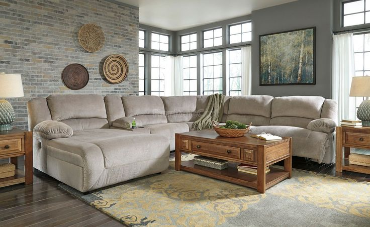 Toletta granite power reclining sectional set ashley - Ashley furniture 14 piece living room sale ...