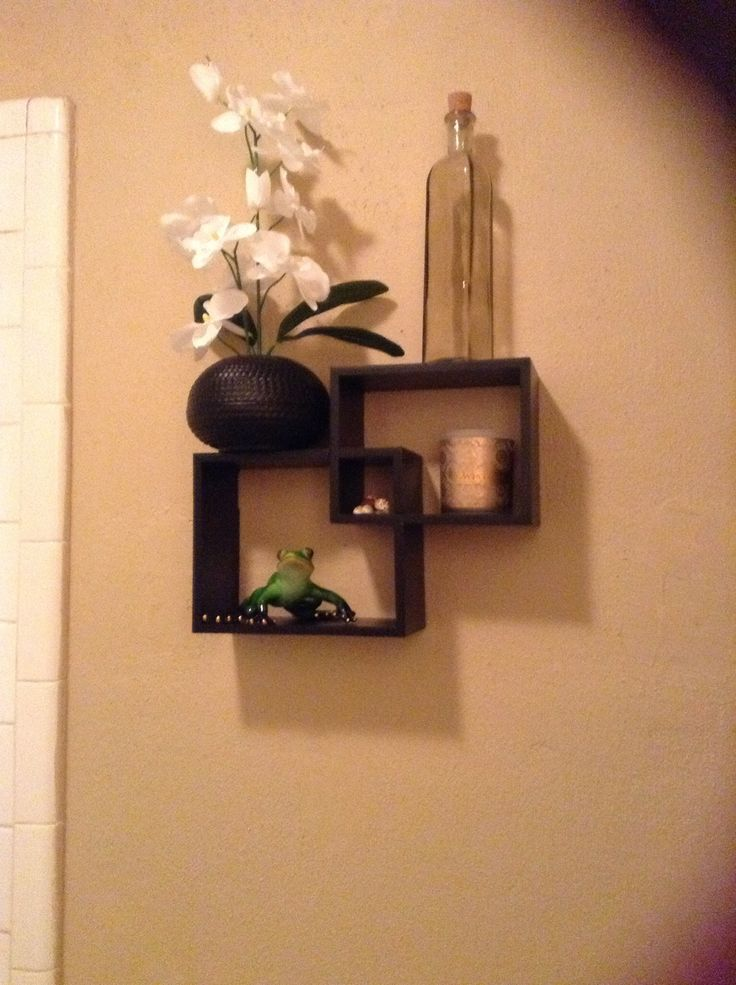 $10 shelves at Garden Ridge bathroom decorating