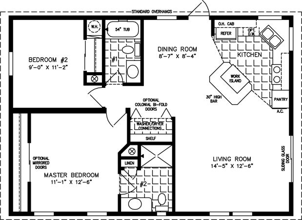 Manufactured Home Floor Plans | 800 sq ft - 999 sq ft Another Great Kitchen