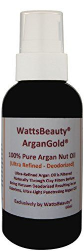 Latest Watts Beauty Ultra ArganGold 100 Certified Pure Argan Oil  Multiuse for Face Hair Nails  Body  Naturally Clay Filtered and Vacuum Deodorized Argan Oil  Perfect for Frizz Free Hair Dry Dull or Aging Skin Face Moisturizer Dry Cuticles Rough Heels Delicate Eye Area Makeup Remover  Much More  2oz Food Safe Plastic Bottle ** Want additional info? Click on the image.