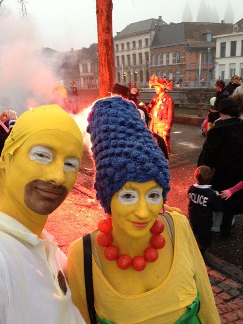 déguisement de couple Marge et Homer Simpson