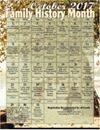 October is Family History Month and the Allen County Public Library Genealogy Center has Programs every day of October! See the schedule at http://www.genealogycenter.org/docs/FHM2017