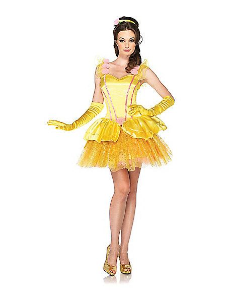 disney beauty and the beast princess belle adult womens costume spirit halloween sing beauty and the beast - Beauty Halloween Costume
