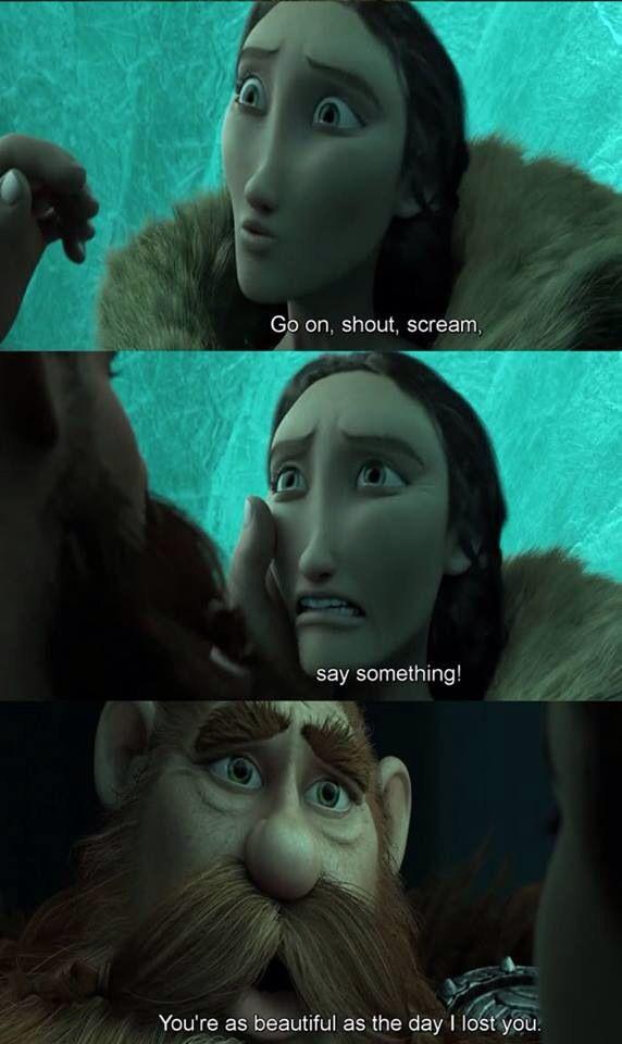 Stoick and Valka tearfully reunite...