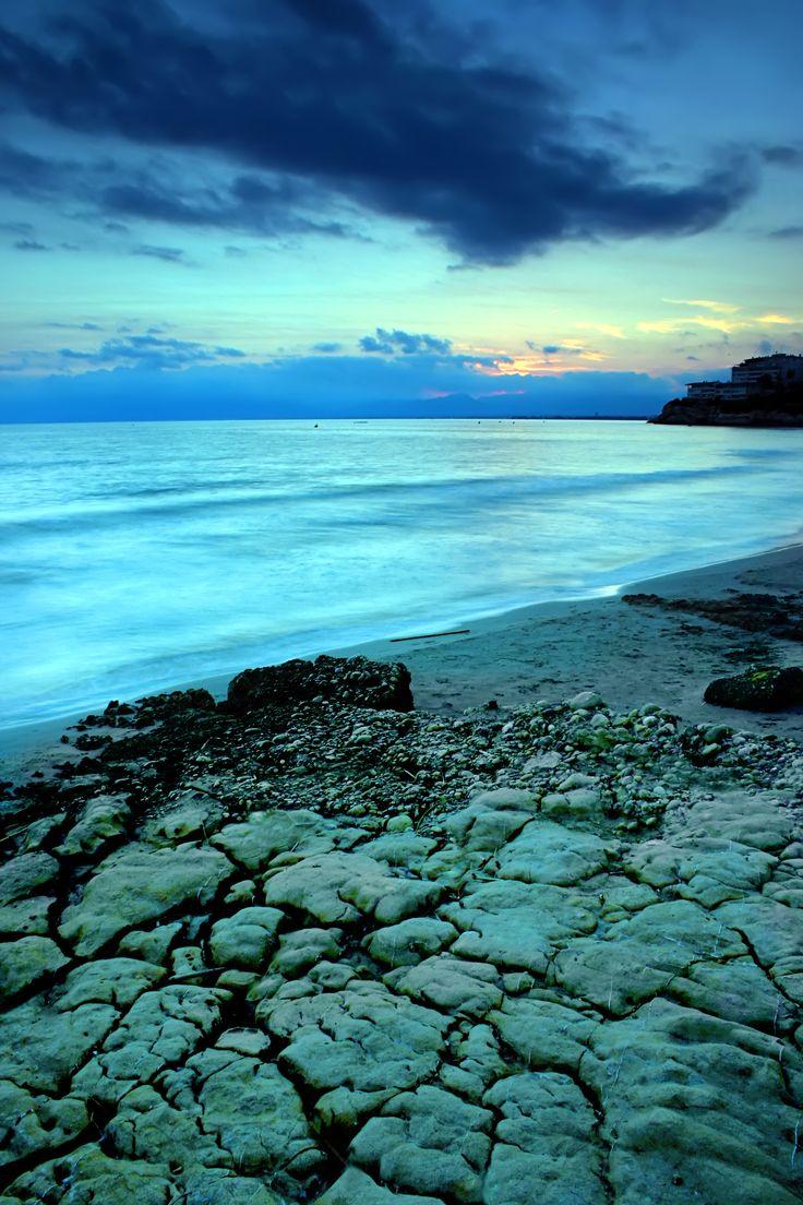 Salou at dusk. Costa Dorada.