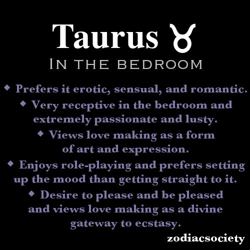 Sex with a taurus woman