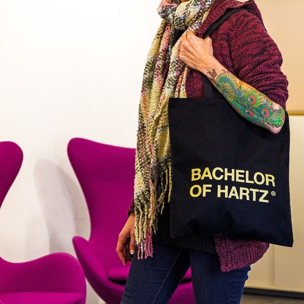 Hipster Jutebeutel für Studenten, Absolventen, Festival / hipster tote bag with idiomatic expression made by Bachelor of Hartz via DaWanda.com