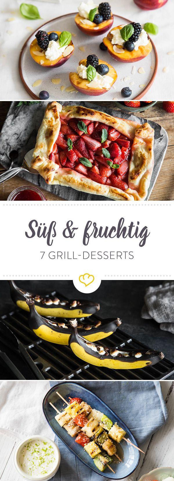 Sommerzeit ist Grillzeit! Da kommt sogar die Nachspeise auf das Rost! Wir haben diese 7 fruchtigen und süßen Grill Desserts für dich zusammengestellt.
