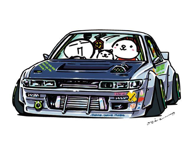 "CRAZY CAR ART ""S13 SILVIA"" original characters ""mame mame rock"" / © ozizo Official web shop ""STAY CRAZY (in Society6)"" Official web shop ""ozizo(in Redbubble)"" ""Crazy Car Art"" Line stickers ""Crazy car Art"" Telegram stickers"