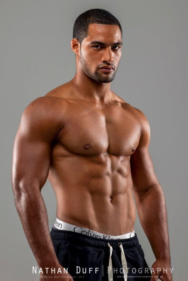 Scorching hot rugby player Ryan Tongia, thankfully shirtless for your viewing pleasure.