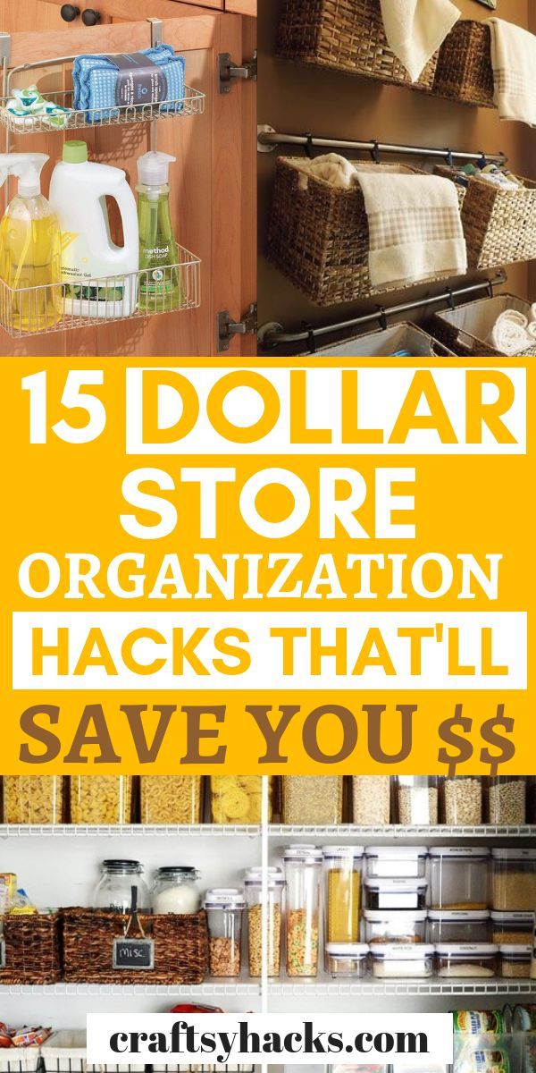 These dollar store organization hacks are great if…