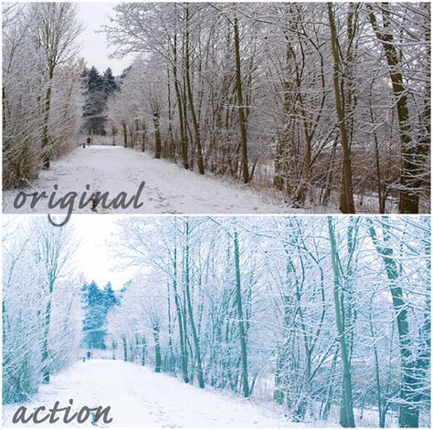 30 #free winter #photoshop #actions | Inspirewetrust.com