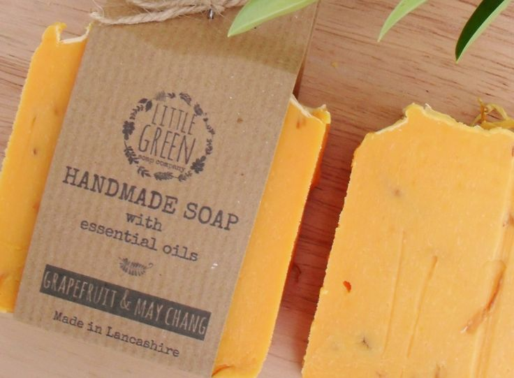 Handmade Soap Grapefruit & May Chang, Natural Soap, Natural Skincare, Shea Butter, Coconut Oil, Olive Oil Soap, Sensitive Skin - pinned by pin4etsy.com