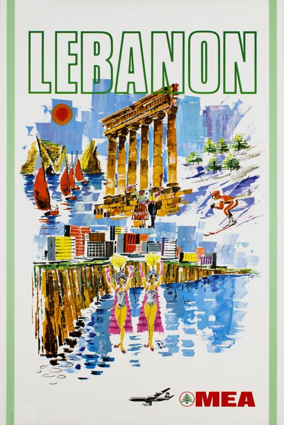 Lebanon, MEA Middle East Airlines - Vintage Posters - Galerie 123 - The place to find vintage art