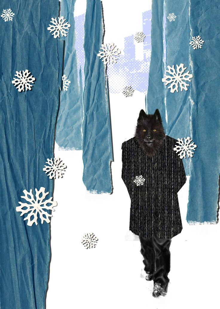 """Ilustración para la novela """"El lobo estepario"""". E. Pitarch © 2013. All rights reserved."""