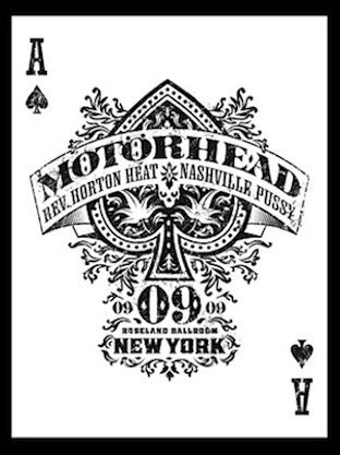 Motorhead Captivating Tour Poster by Graham Gruhamed Hartmann | more here: http://playingcardcollector.net/2013/10/06/playing-cards-art-posters-2/