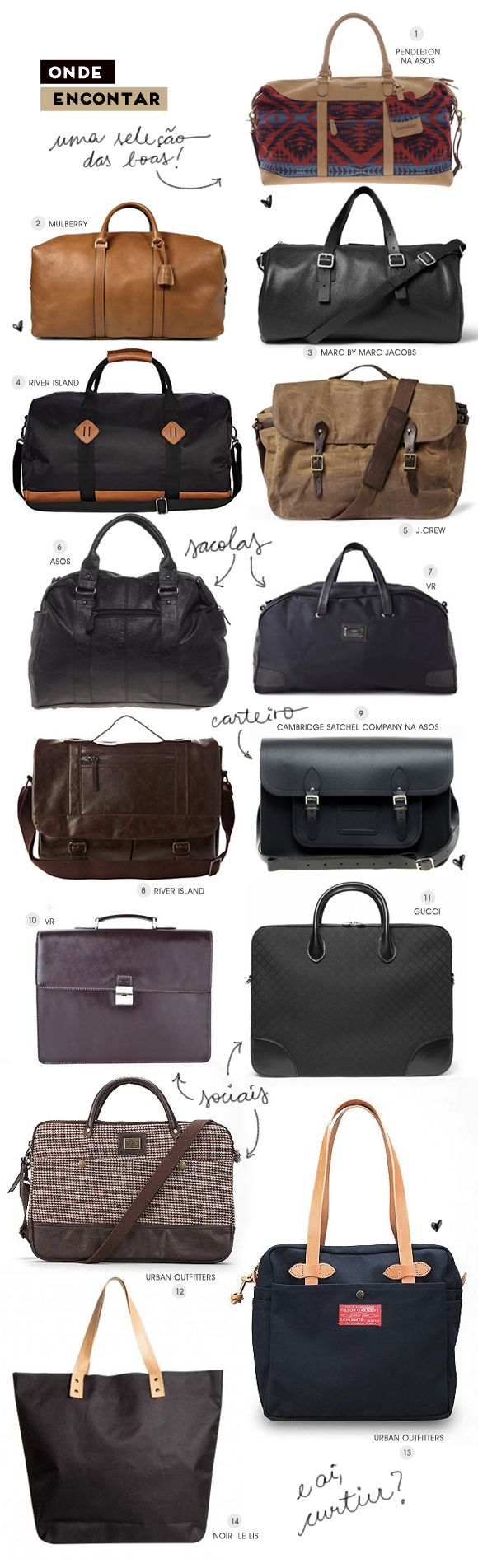 Mens bags #bags #menstyle #tipographics