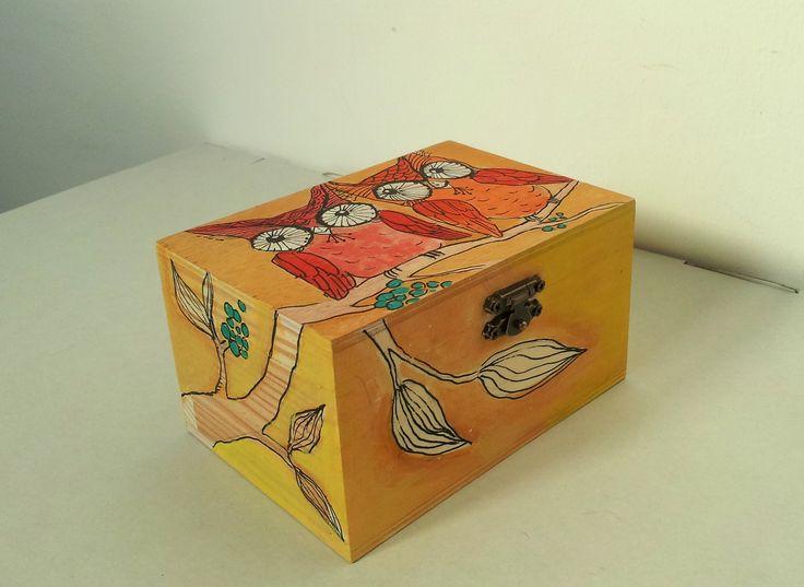 #Jewelry#Handpainted#WoodBox