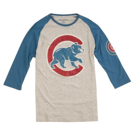 Chicago Cubs Alliance 3/4 Sleeve Tee By Wright & Ditson