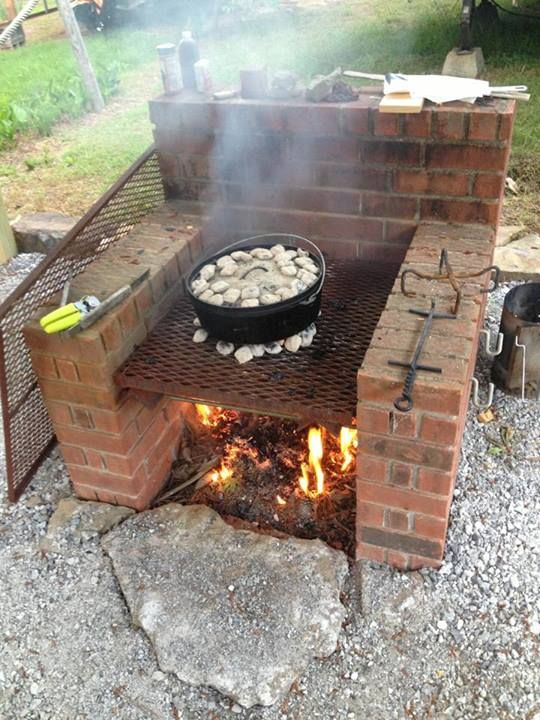 Brick oven! Great for large dye pots!                                                                                                                                                                                 More