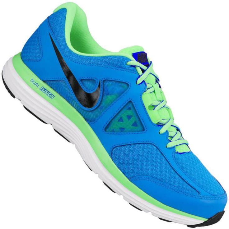 Tênis Nike Dual Fusion Lite 2 MSL Masculino Azul / Verde