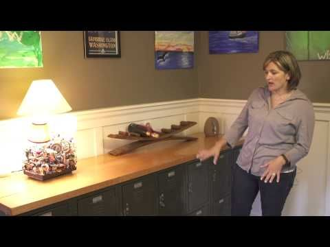Subscribe Now: http://www.youtube.com/subscription_center?add_user=ehowArtsandCrafts  Watch More: http://www.youtube.com/ehowArtsandCrafts  Reusing old things to create new decorations for your home is something that you can do with old school lockers and