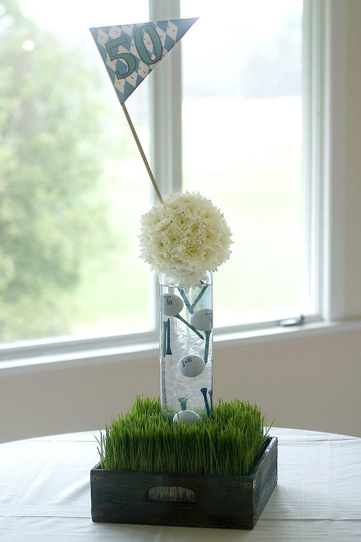 GOLF 21 | Mens birthday party, Flower centerpieces, Golf theme