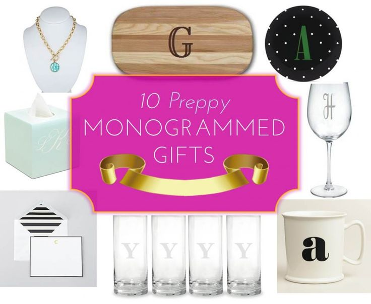 MG Gift Guide: 10 Preppy Monogrammed Gifts #holidaygifts #christmasgifts #christmas #preppygifts #monogrammedgifts