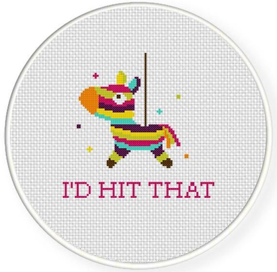 I'd Hit That Cross Stitch Pattern pattern on Craftsy.com