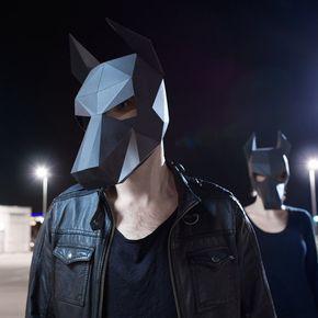 Dobermann Dog Mask - machen Sie Ihre eigene Maske von digitalen PDF und Recycling-Karte
