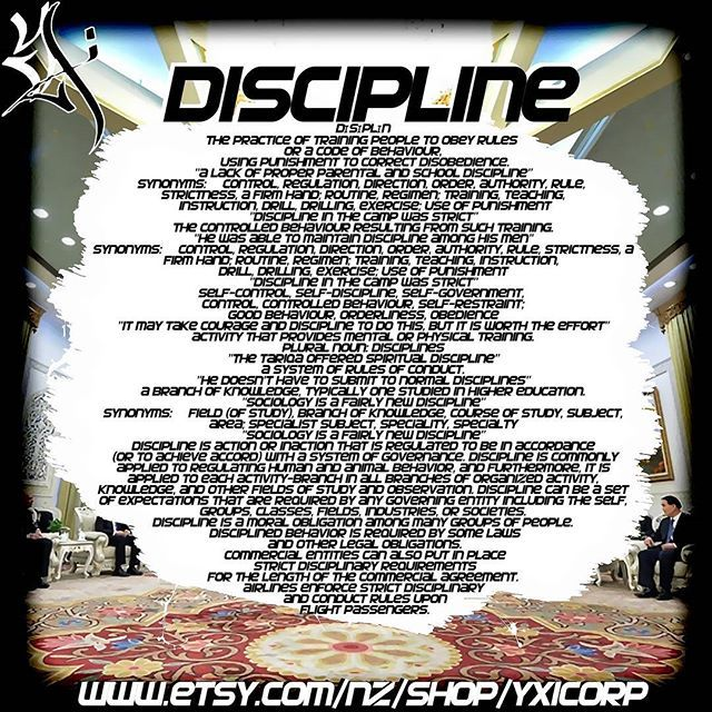 Discipline #YXICORP  Www.etsy.com/nz/shop/yxicorp <~¥×∆×¥×∆×¥×∆×¥×∆×¥~> #discipline #pioneer #crowdfunding #lifecoach #buinessmentor #buinesscoach #lawofattraction #multimillionaire #leadership #influencer #contentcreator #seo #CEO #agent #visionary #infographic #educational #exhibition #corporation #executive #lux #global #warrior #spiritual #determination #motivation #inspired