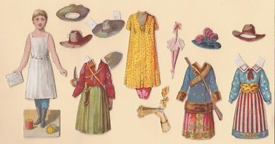 Brooks Spool Cotton Victorian Paper Doll set front/back (02/24/2011)