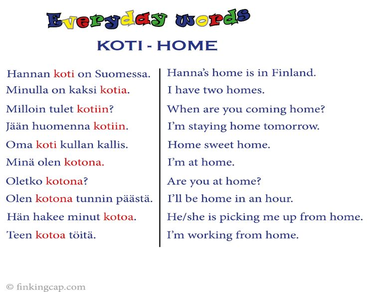 It's often the most common words that cause confusion. The Finnish word 'koti' means 'home', and here are some tips on how to use the word. For more Finnish study materials, visit my website and blog. Don't forget to sign up for my free resource library!