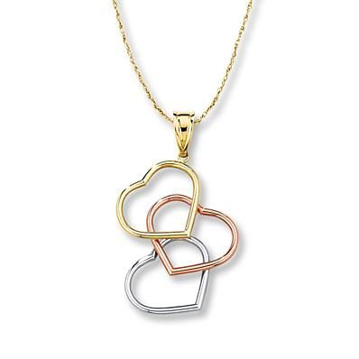 """3 hearts + 3 golds = 3 special words: """"I love you"""""""