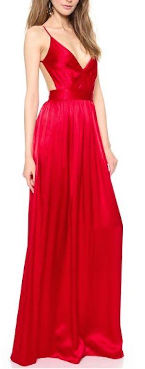 beautiful red dress for wedding season