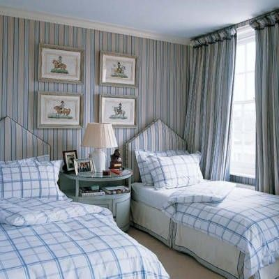 I really love the windowpane plaid bedding