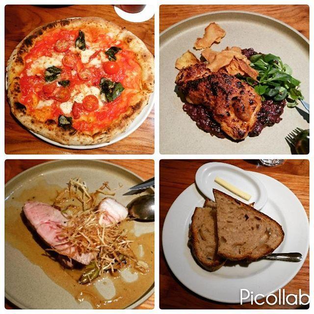 おはようございます 今週も忙しいけどほどほどに頑張ります 週末のランチは友達と鎌倉へ ピザ、豚ロースト、チキンの胡桃味噌焼き、カンパーニュ お肉はじっくり焼いているのでとってもジューシー ピザもカンパーニュもモチモチ 美味しいごはんと友達との他愛もない話 とても幸せな時間 #ランチ#おひるごはん#外食#ピザ#肉#肉好き#パン#パン好き#大山鶏#ポモドーロ#鎌倉#鎌倉グルメ#gardenhouse#ガーデンハウス#カンパーニュ#美味しい#黒米のリゾット