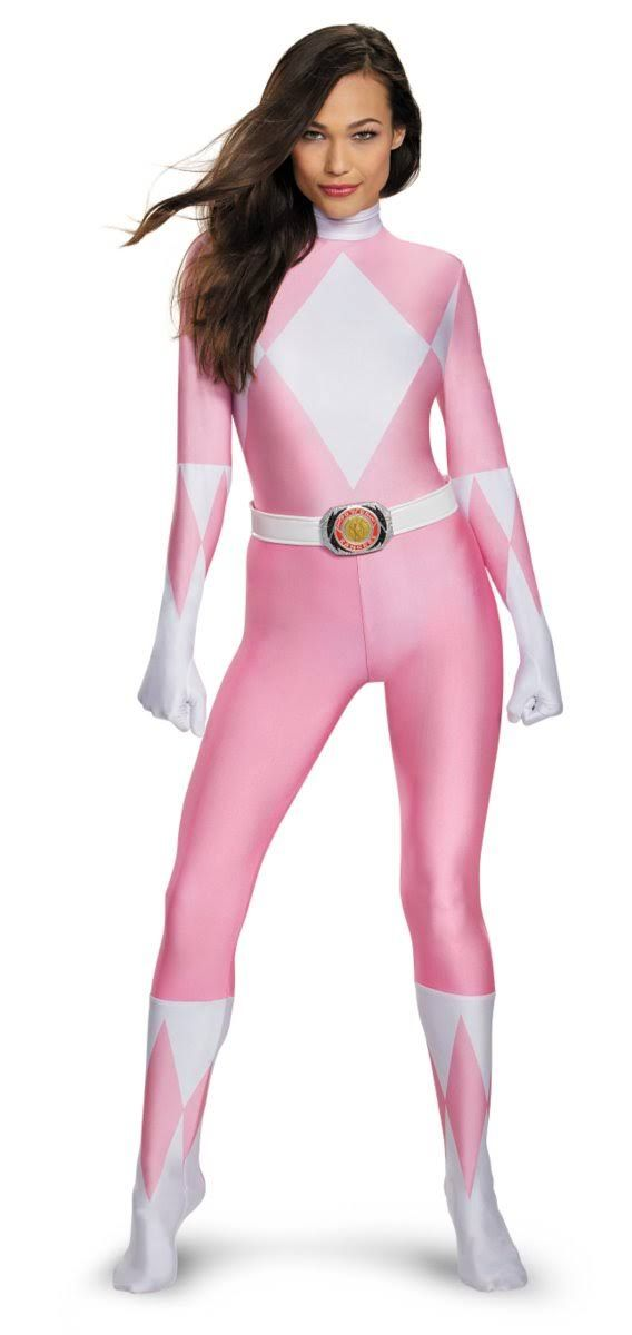 Adult Pink Ranger Bodysuit Costume - Power Rangers - Adult Extra Small by Spencer's