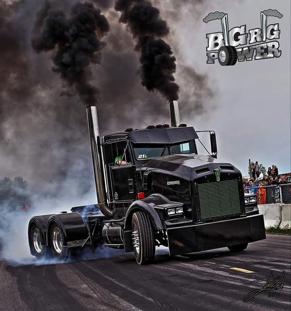 "semitrckn: "" Kenworth custom T800 Blowin Coal """
