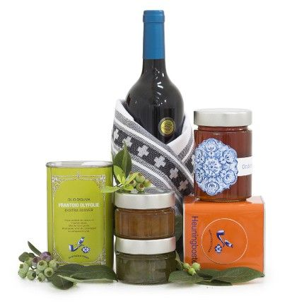 Farm Favourites - We've hampered up a few of our farm favourites. Wine, tea, preserves and olive oil are just some of the delicious staples to be enjoyed all year round. Stock up the pantry or gift someone with this selection of the best picks from our larder| Babylonstoren Franschhoek