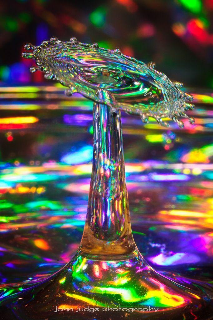 rainbow waterdrops