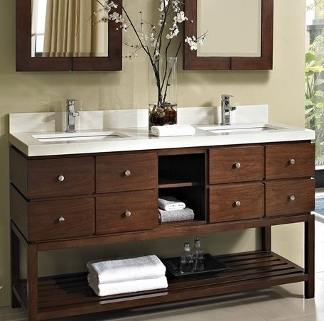 38 best images about master bath vanity inspiration on for Modern master bathroom vanities