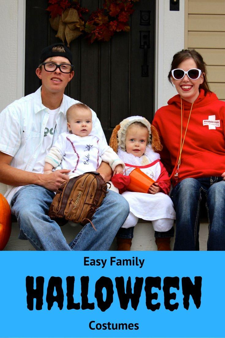 Easy Family Halloween Costume Ideas http://blog.parentlifenetwork.com/family-halloween-costumes/