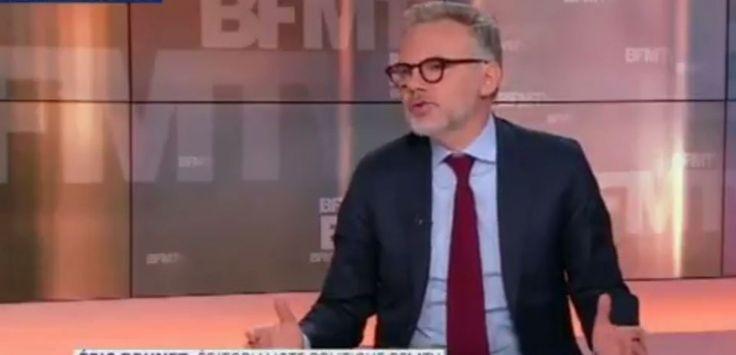 """L'éditorialiste de BFMTV a traité les électeurs de Jean-Luc Mélenchon """"d'abrutis"""". Le leader de La France insoumise lui répond sur son blog."""